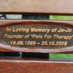 Pets for Therapy plaque